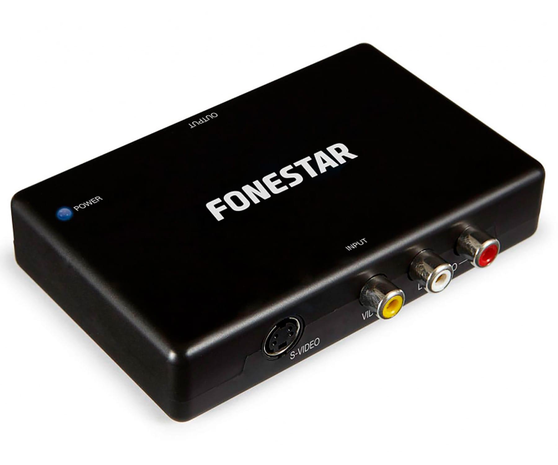 FONESTAR FO-40VH CONVERTIDOR DE RCA / S-VIDEO Y AUDIO A HDMI