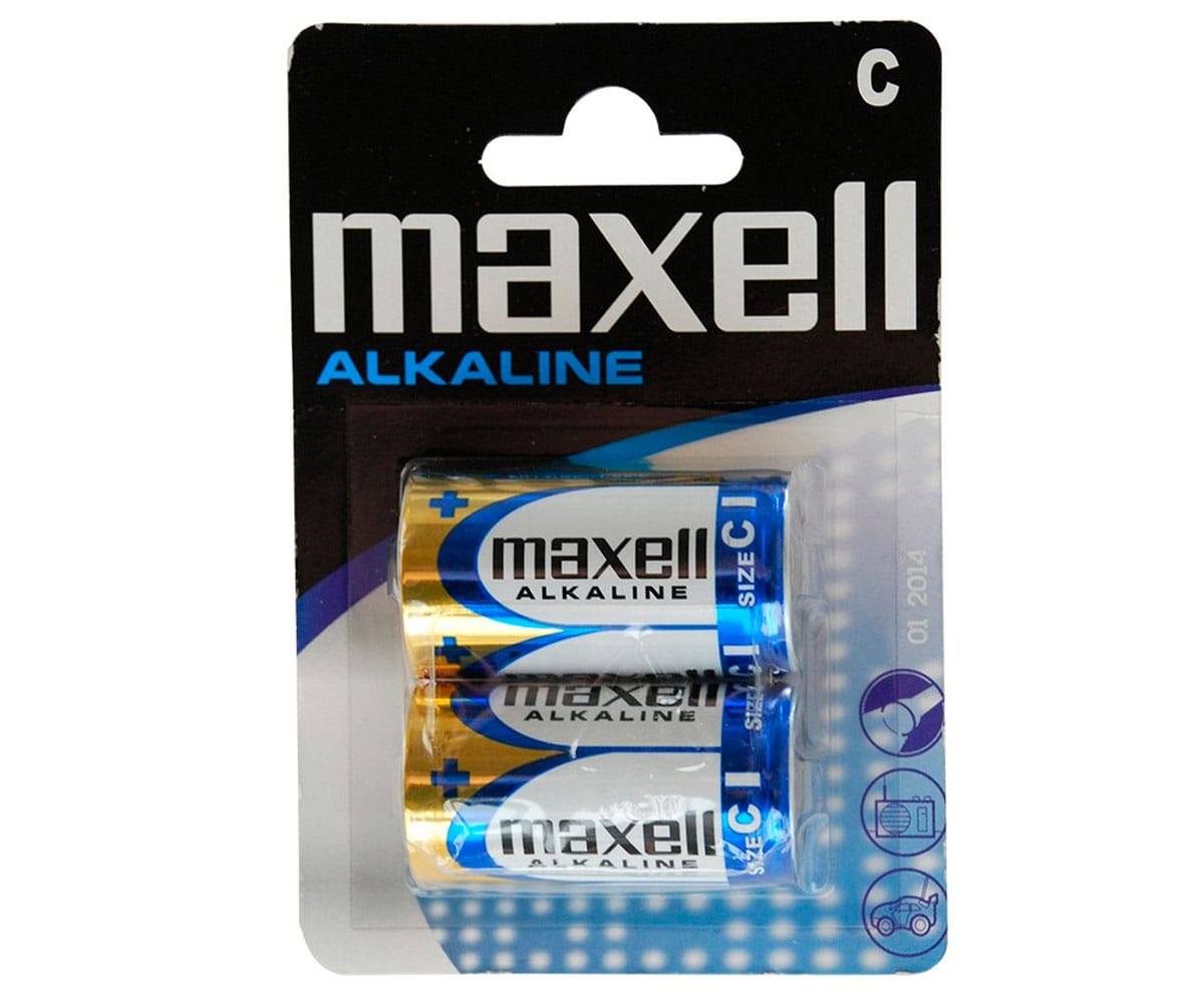 MAXELL PILA ALCALINA LR14 C 1.5V BLISTER DE 2 UNIDADES