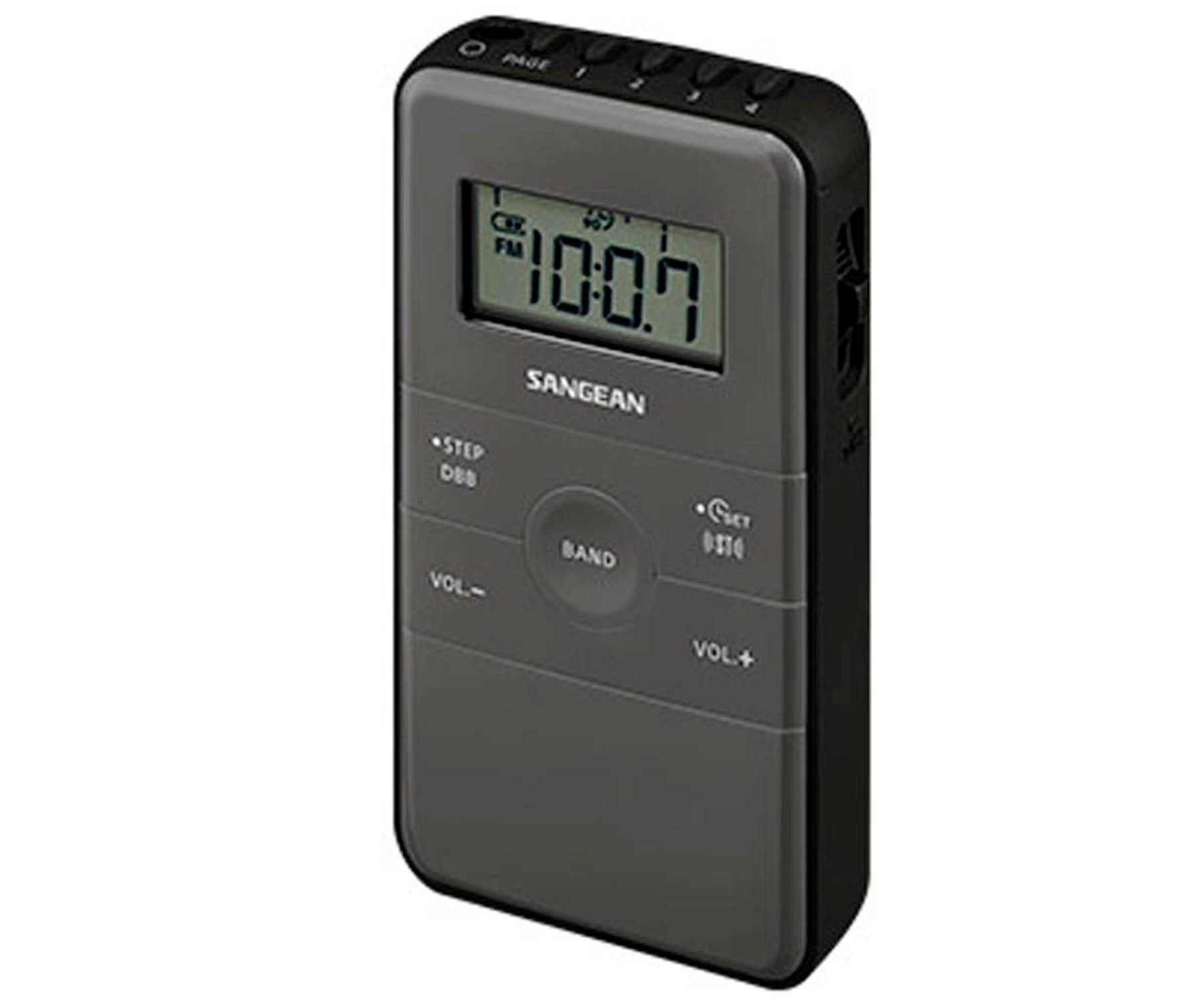 SANGEAN DT-140 NEGRO RADIO DE BOLSILLO FM AM BATERÍA RECARGABLE
