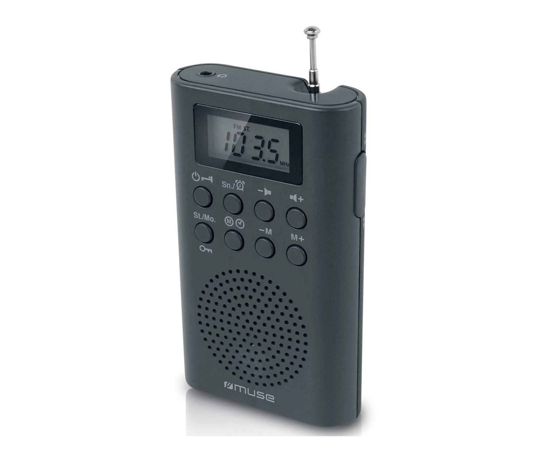 MUSE M-03 R NEGRO RADIO DIGITAL DE BOLSILLO FM CON ALTAVOZ INTEGRADO