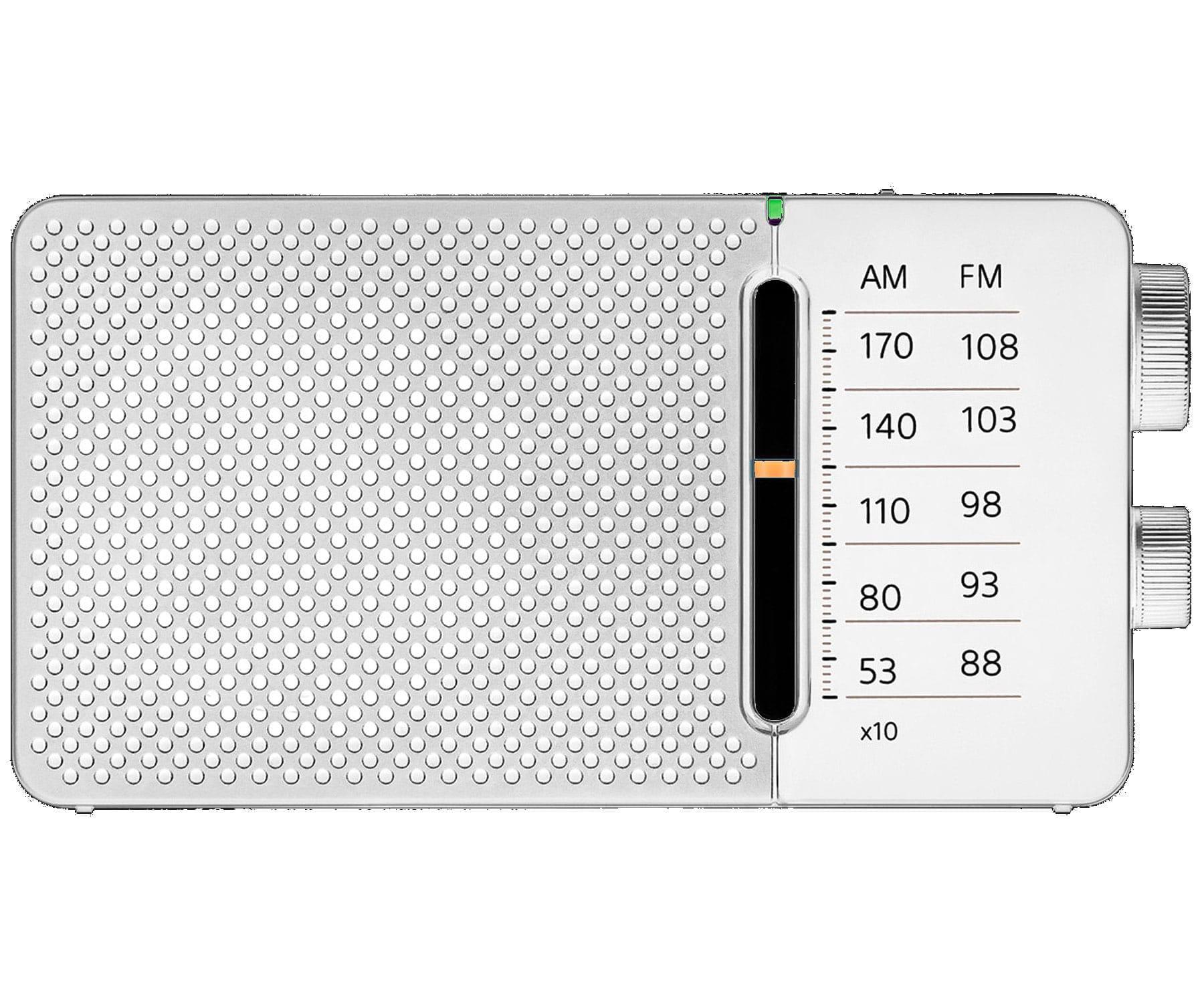 SANGEAN SR-36 BLANCO RADIO FM/AM ALTAVOZ INTEGRADO ANTENA TELESCÓPICA SALIDA AURICULARES