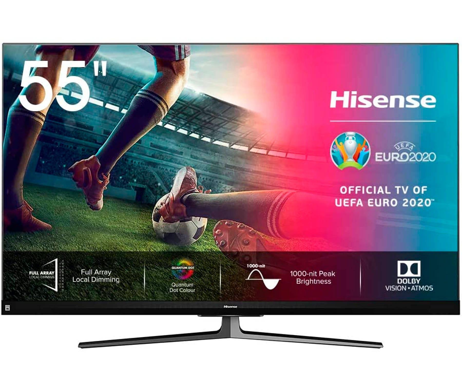 HISENSE H55U8QF TELEVISOR 55'' SMART TV ULED 4K UHD HDR 120Hz CI+ HDMI USB BLUETOOTH