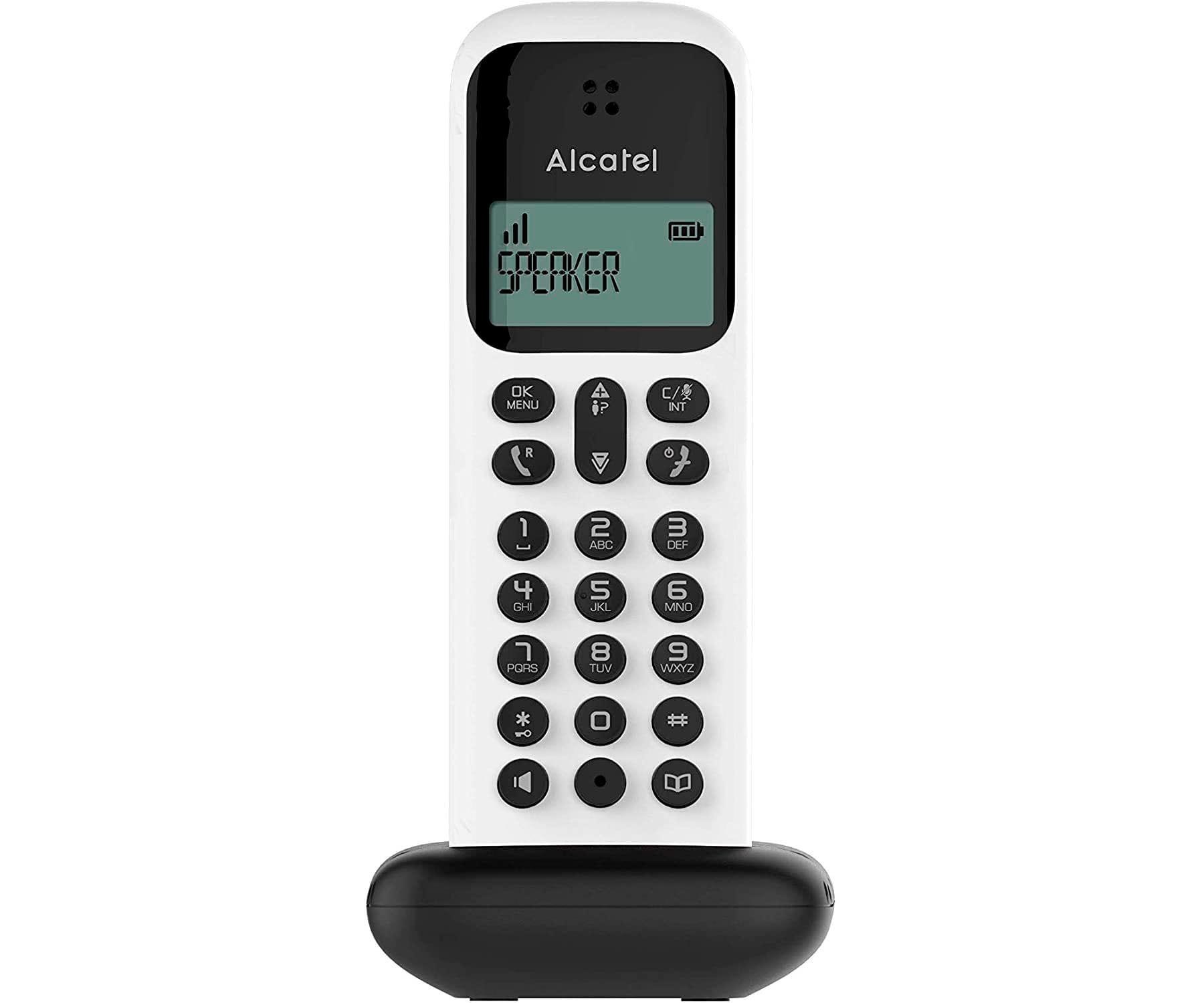 ALCATEL D285 BLANCO TELÉFONO FIJO INALÁMBRICO PANTALLA SENCILLO Y ELEGANTE