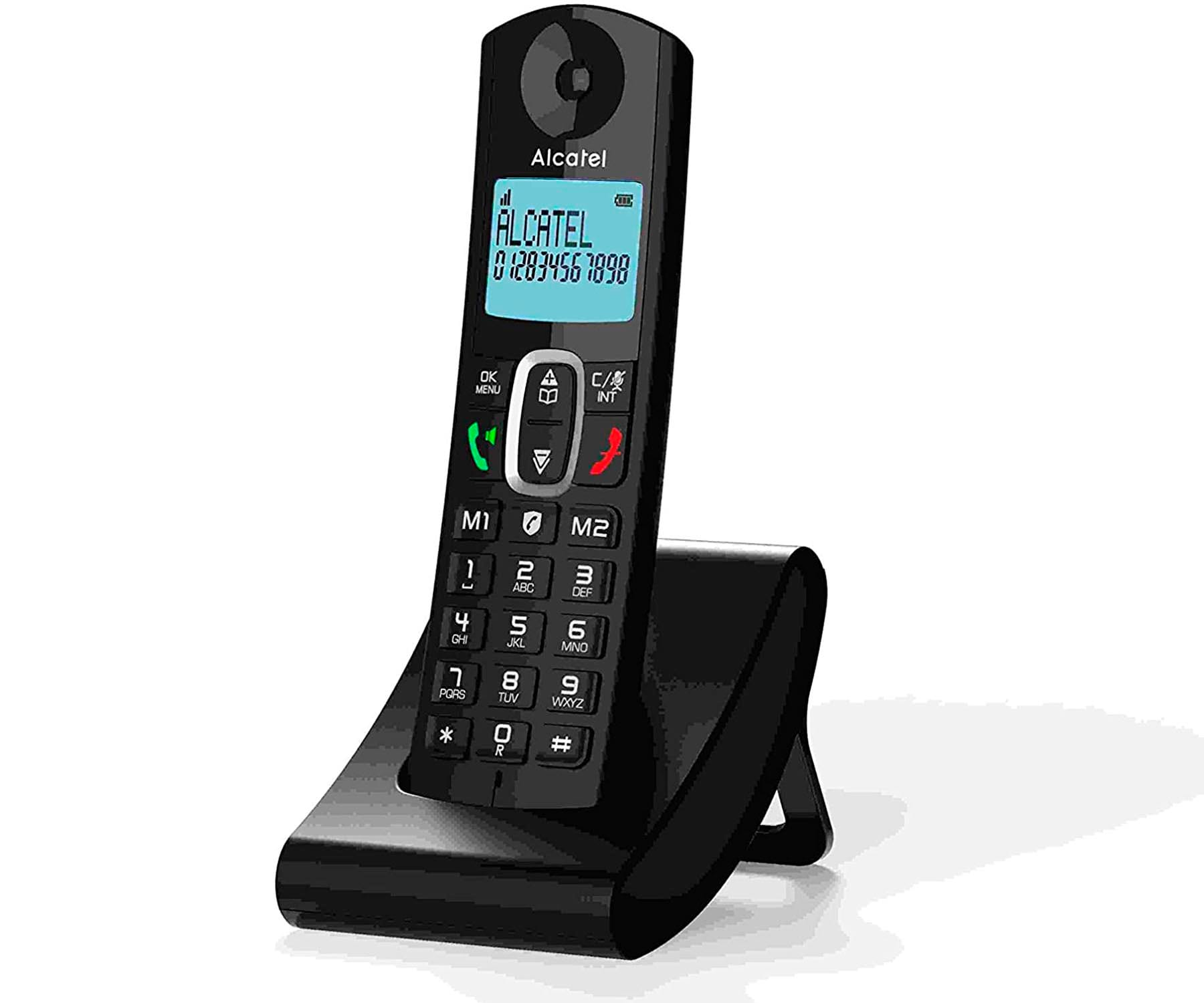 ALCATEL F685 NEGRO TELÉFONO FIJO INALÁMBRICO PANTALLA RETROILUMINADA