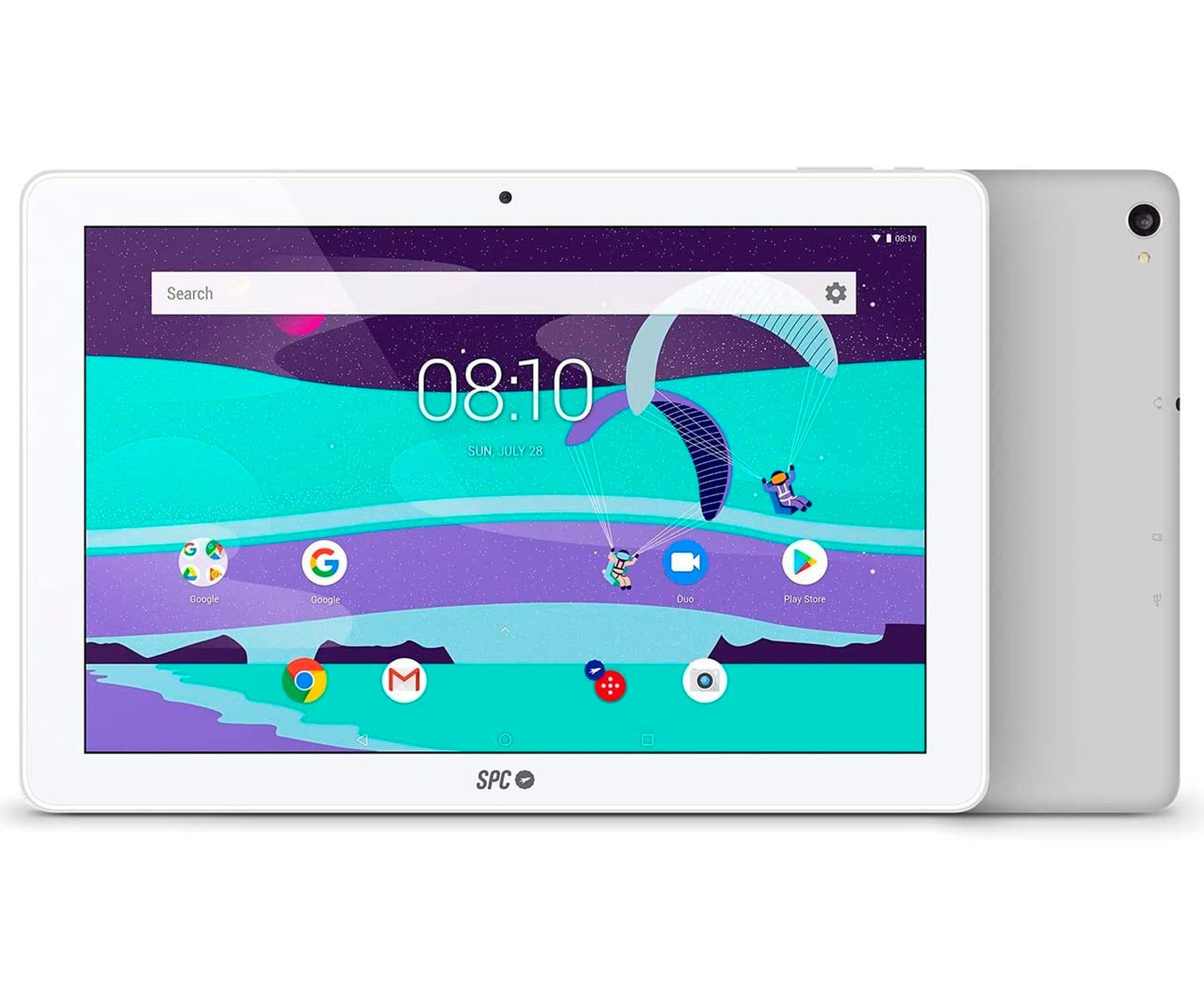 SPC GRAVITY MAX BLANCO GRIS TABLET WIFI 10.1'' IPS HD QUADCORE 32GB 2GB RAM CAM 5MP SELFIES 2MP