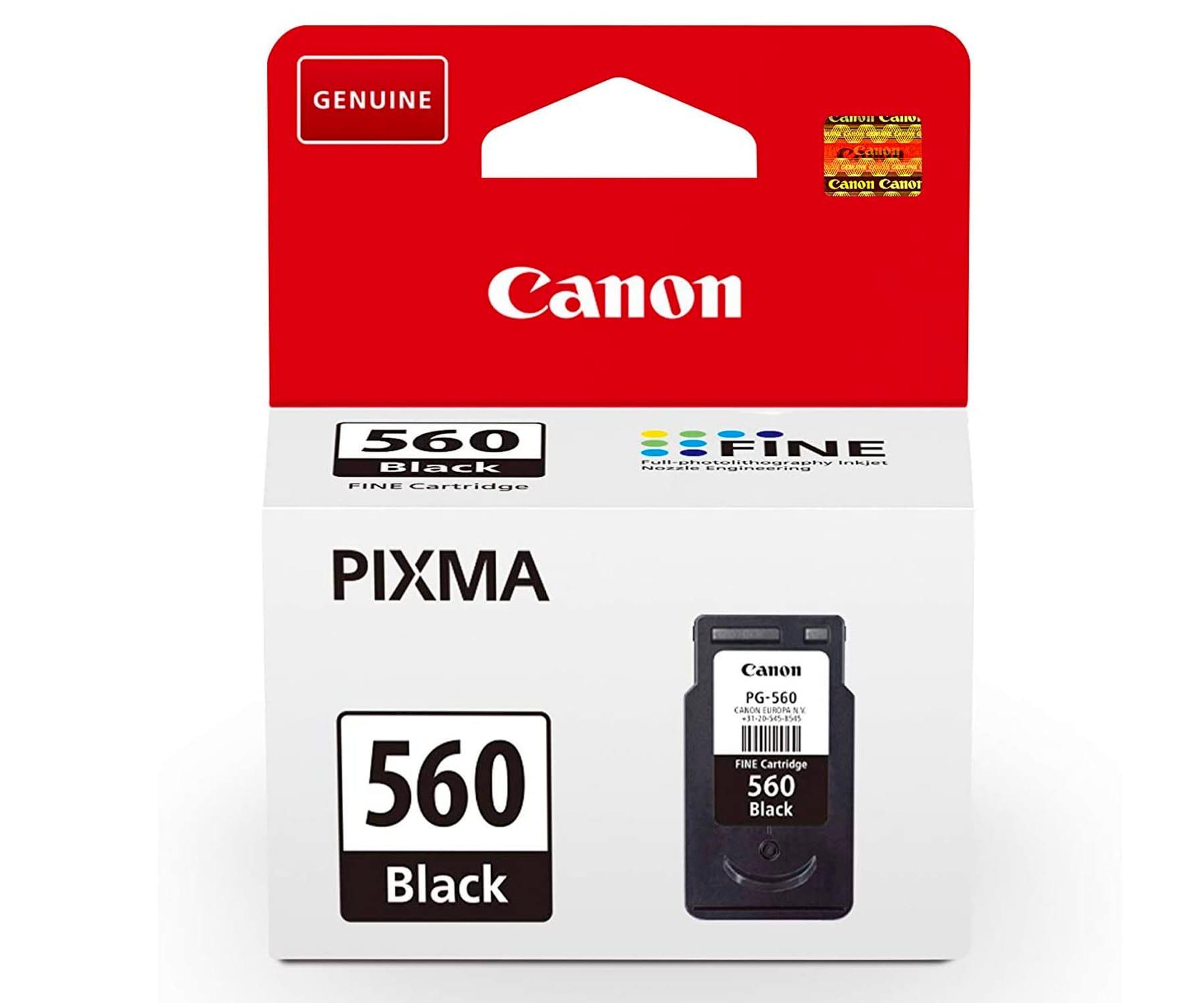 CANON PG-560 COLOR NEGRO CARTUCHO DE TINTA 8ML FINE PIXMA