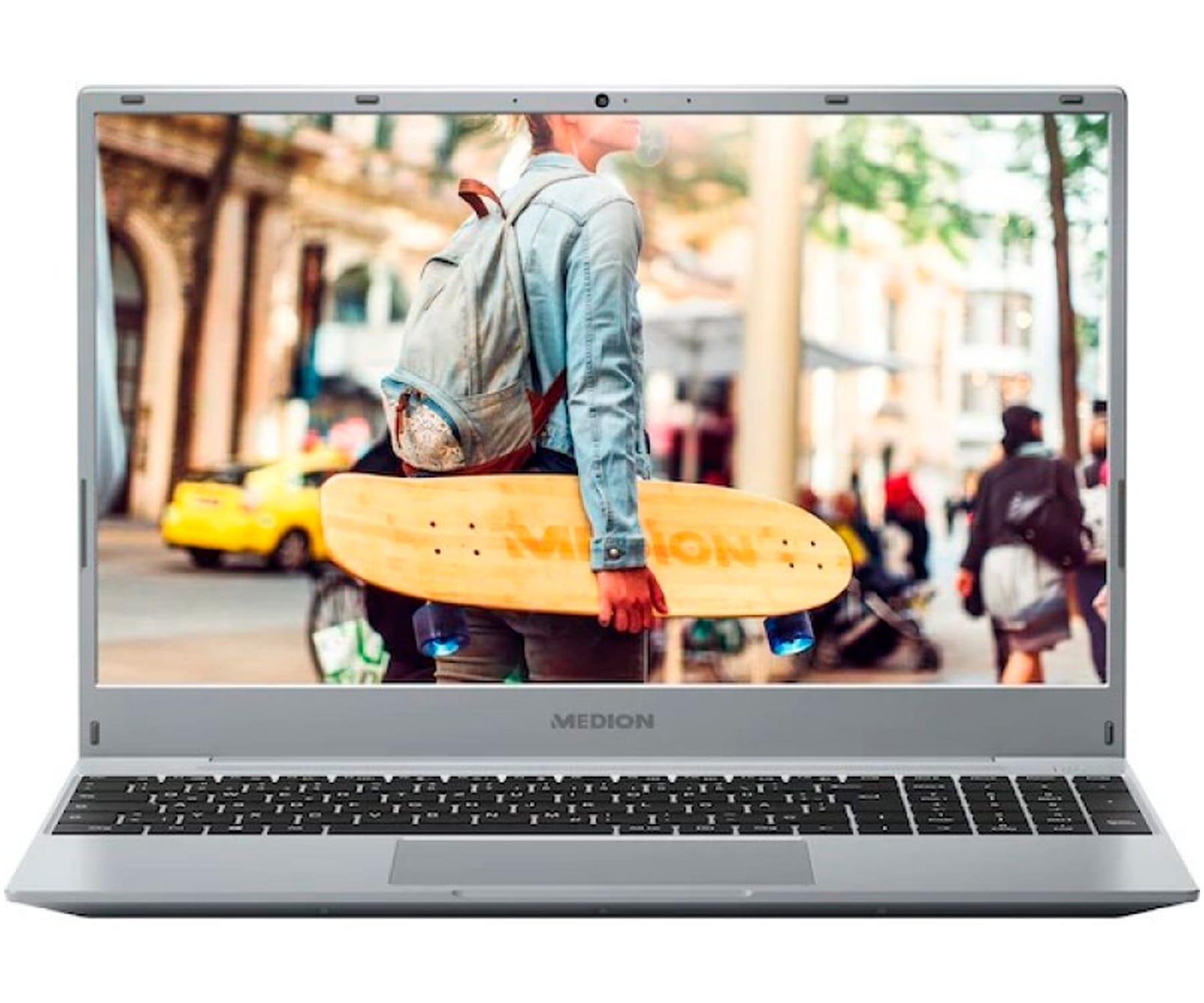 MEDION AKOYA E15301 MD62020 PLATA PORTÁTIL 15.6'' FULLHD RYZEN 5 3500U 256GB SSD 8GB RAM HDMI USB FREEDOS