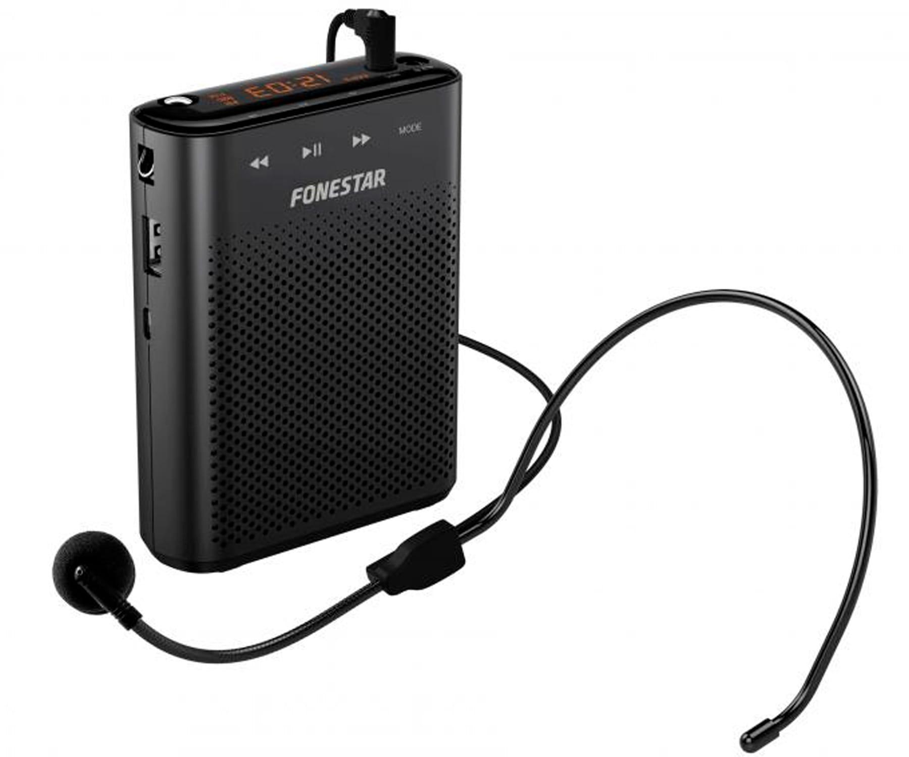 FONESTAR ALTA-VOZ-30 AMPLIFICADOR PORTÁTIL PARA CINTURA CON MICRÓFONO Y GRABADOR USB/MICROSD/MP3