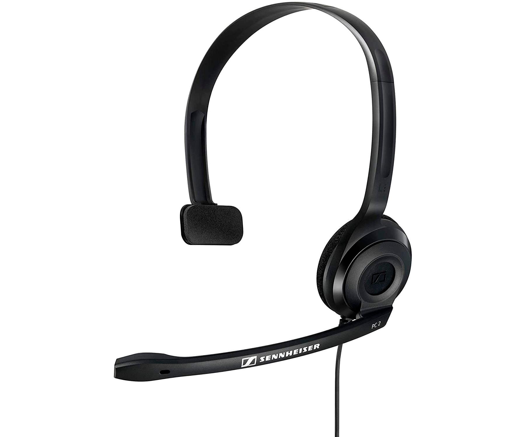 SENNHEISER PC 2 CHAT NEGRO AURICULAR ON-EAR MONOAURAL CON MICRÓFONO Y CONECTOR DUAL JACK 3.5mm