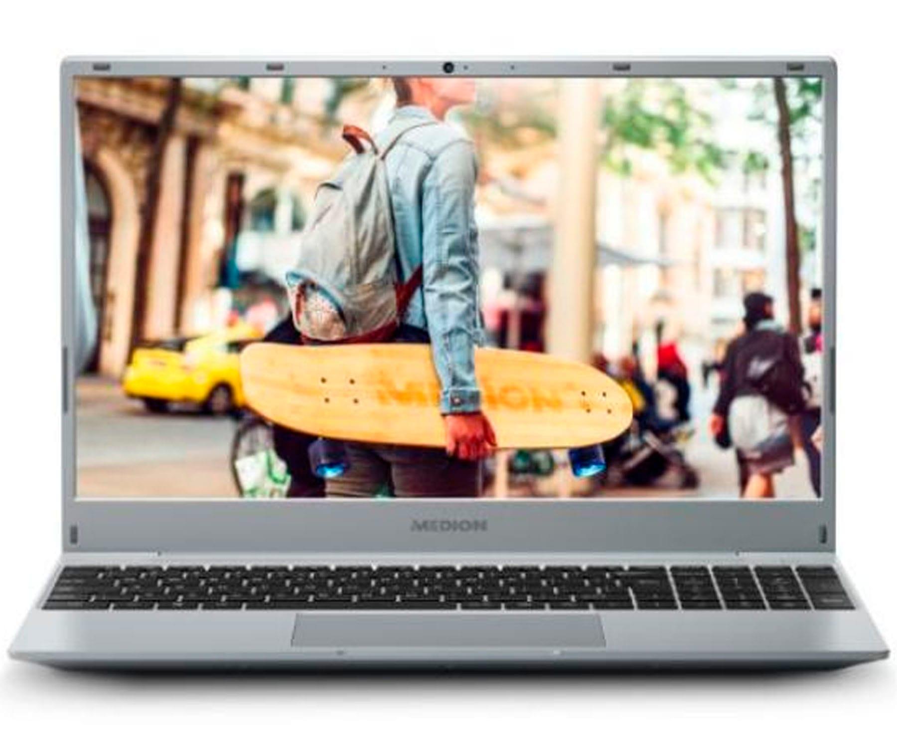 MEDION AKOYA E15301 MD62019 PLATA PORTÁTIL 15.6'' FullHD RYZEN 5 3500U 256GB SSD 8GB RAM WINDOWS 10 HOME