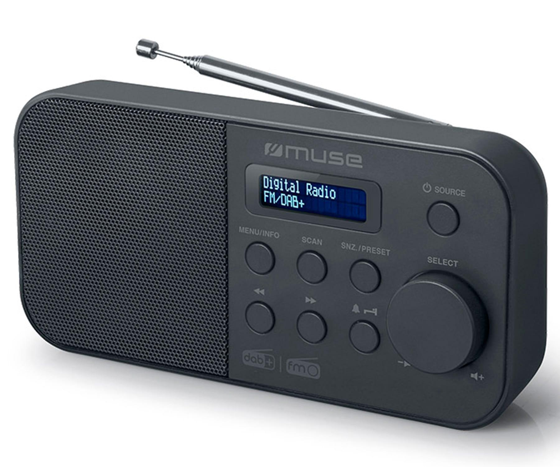 MUSE M-109 DB NEGRO RADIO DAB+/FM PORTÁTIL CON ALTAVOZ INTEGRADO Y PANTALLA