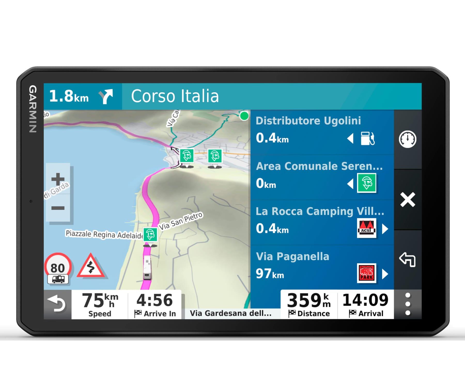 GARMIN CAMPER 1090 EU MT-S GPS PARA AUTOCARAVANAS CON MAPAS PREINSTALADOS DE EUROPA PANTALLA DE 10''