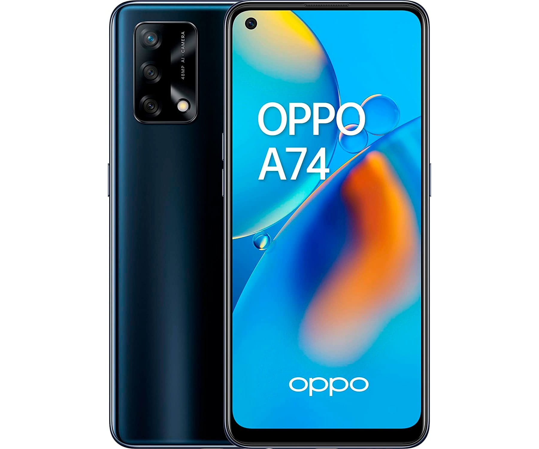 OPPO A74 BLACK MÓVIL 4G DUAL SIM 6.43'' AMOLED FHD + OCTACORE 128GB 6GB RAM TRIPLE CAMARA 48MP IA SELFIES 16MP
