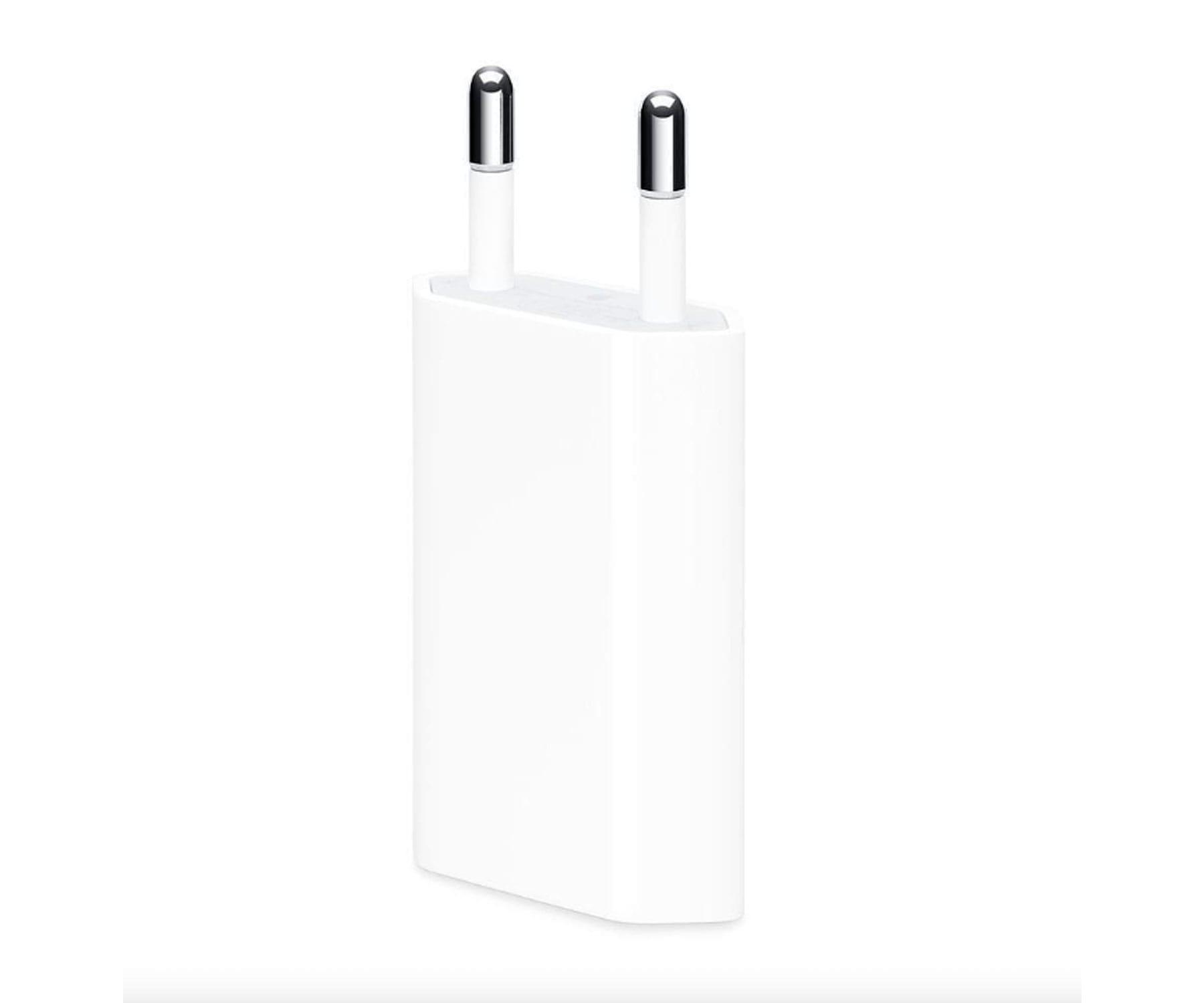 APPLE MGN13ZM/A USB BLANCO CARGADOR DE PARED, ADAPTADOR DE CORRIENTE USB DE 5W ORIGINAL DE APPLE