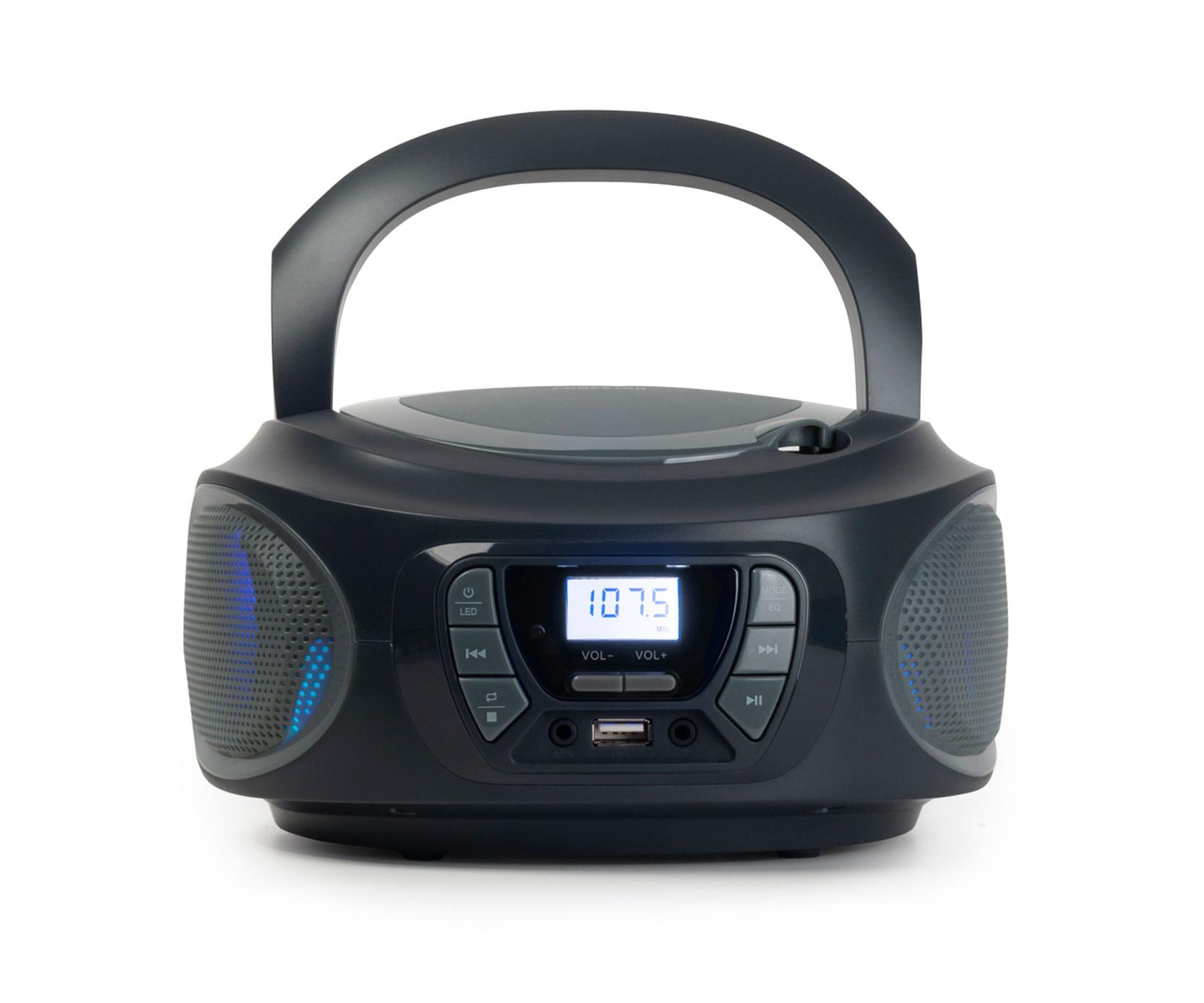 FONESTAR BOOM-ONE-G GRIS/RADIO CD/4W/REPRODUCTOR USB/MP3/RADIO FM