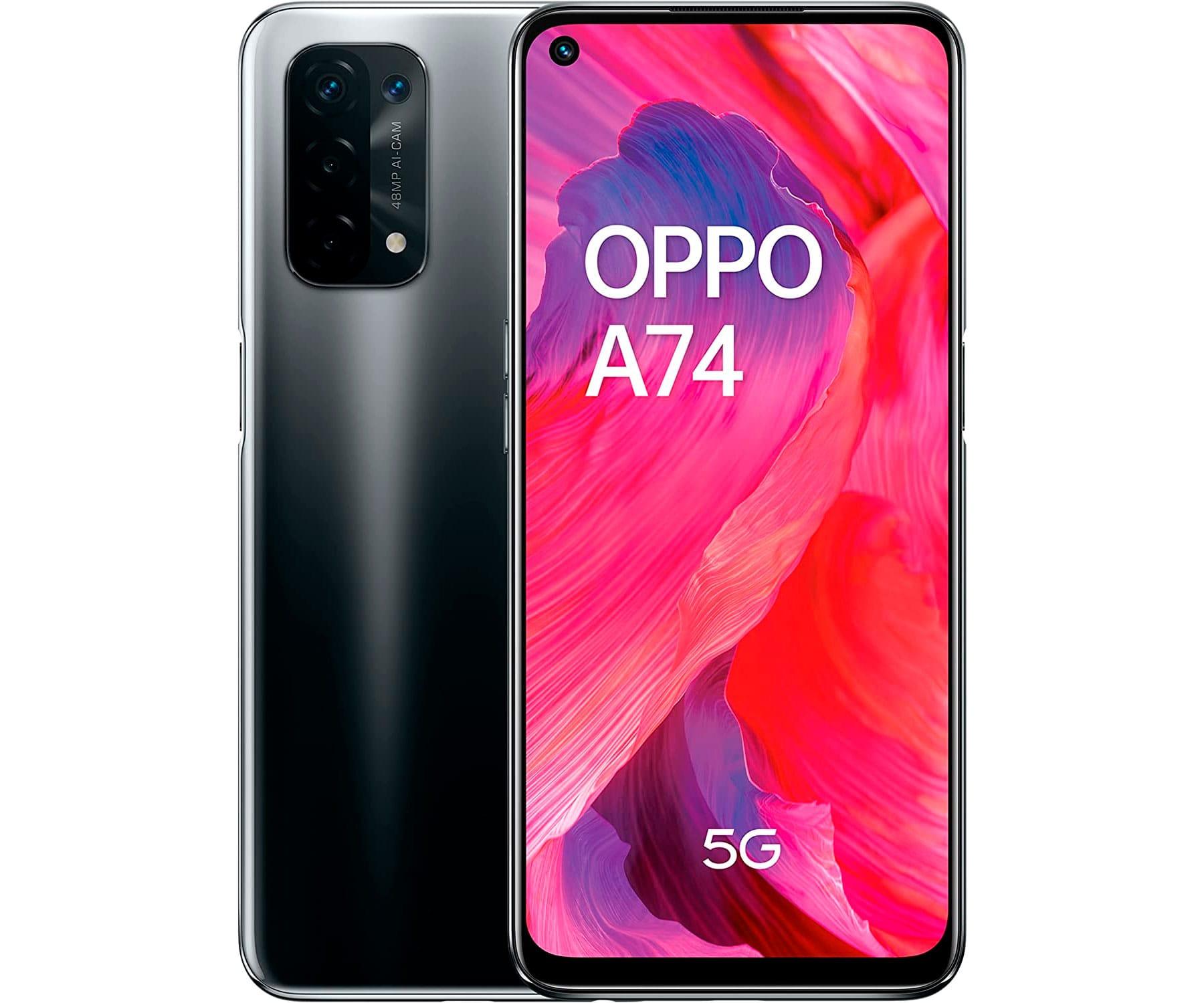 OPPO A74 5G NEGRO 8CORE/6GB/128GB/6.5'' FHD+/DUAL SIM