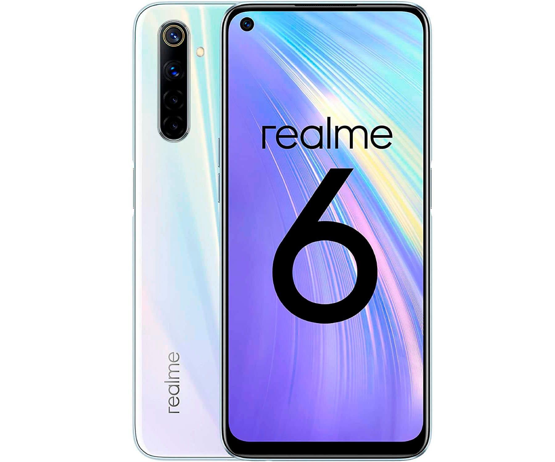 "REALME 6 BLANCO (COMET WHITE) 4+128GB / 6.5"" 90HZ / DUAL SIM"