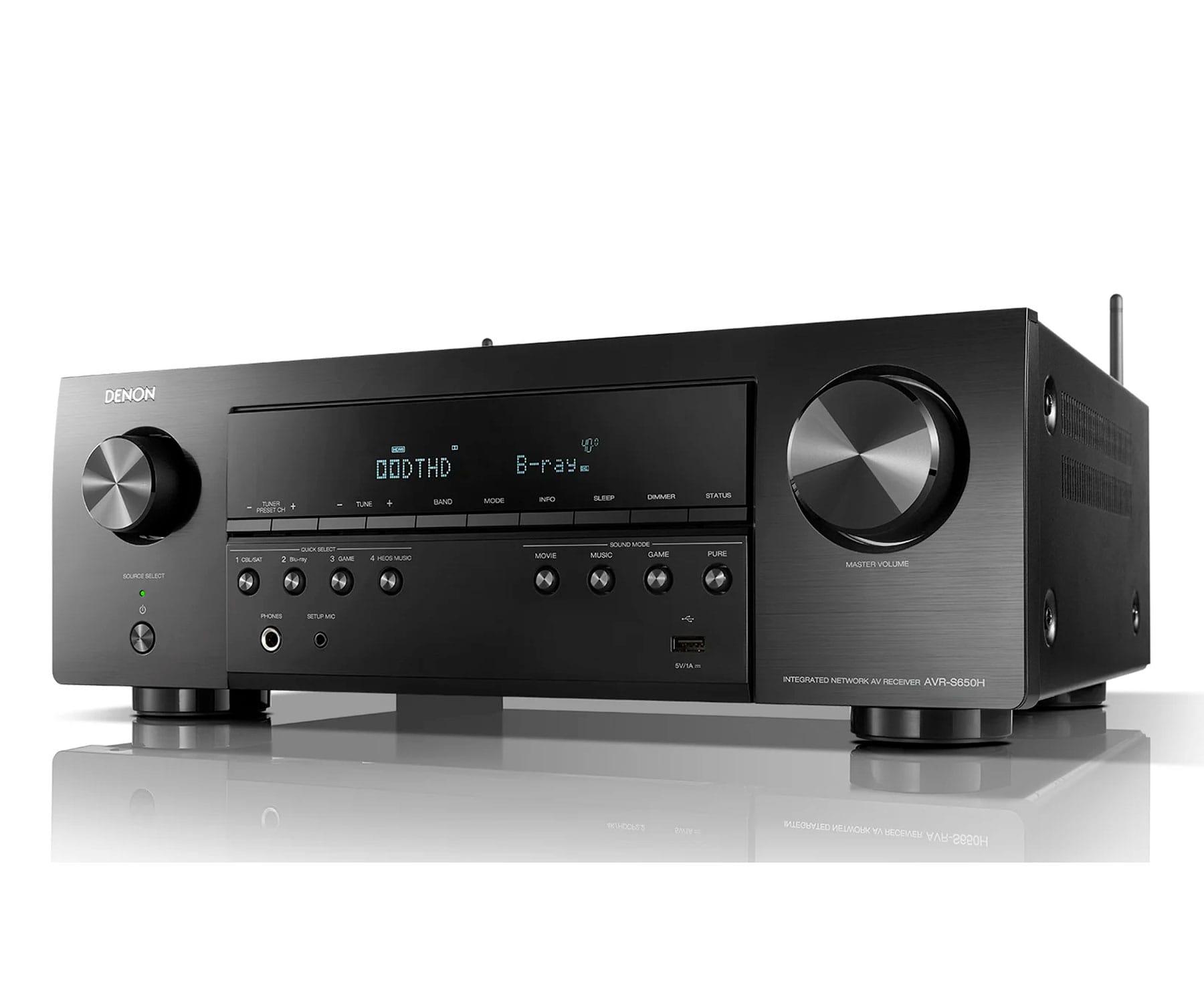DENON AVR-S650H NEGRO/RECEPTOR AV/4K ULTRA HD/5.2CH/135W/DOLBY TRUE HD/DTS-HD/DOLBY VISION/BT