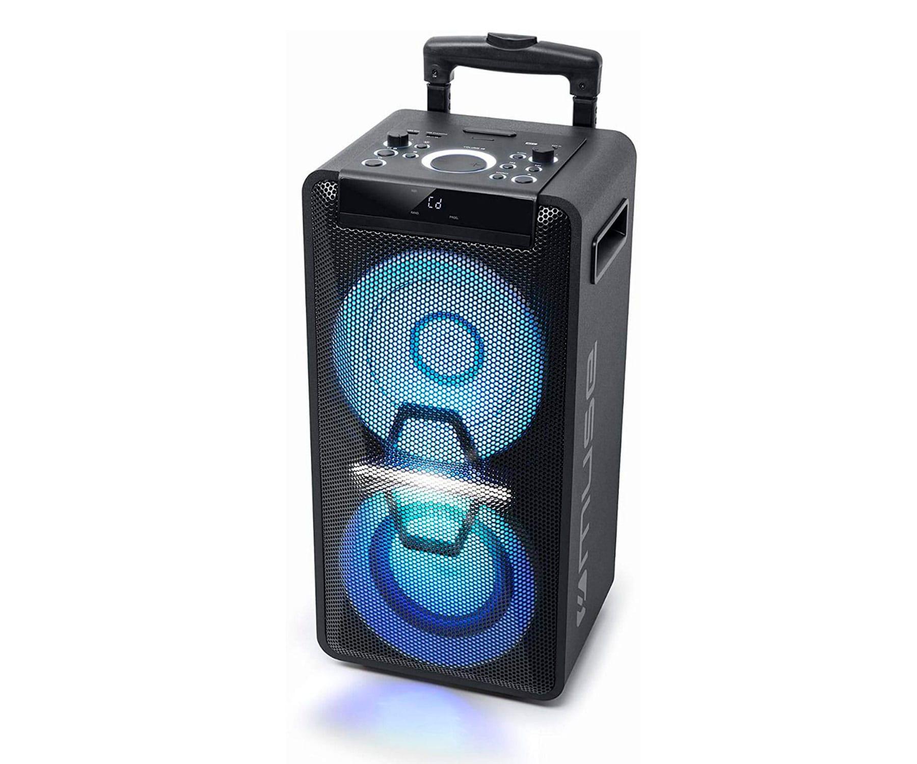 MUSE M1920-DJ NEGRO/ALTAVOZ PARA FIESTAS/ 300W/BLUETOOTH/NFC/LECTOR CD