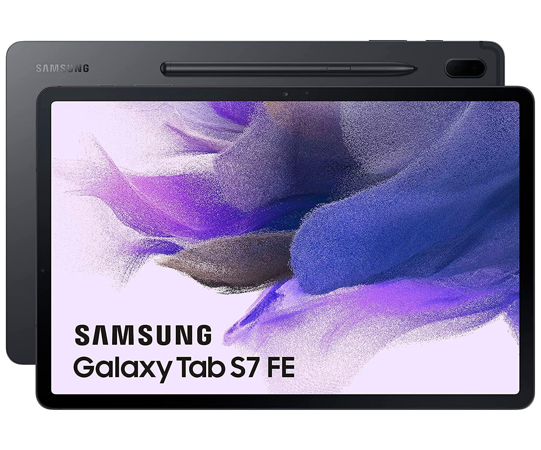 SAMSUNG GALAXY TAB S7 FE 5G NEGRO (MYSTIC BLACK) 4+64GB / 12.4'' / S PEN