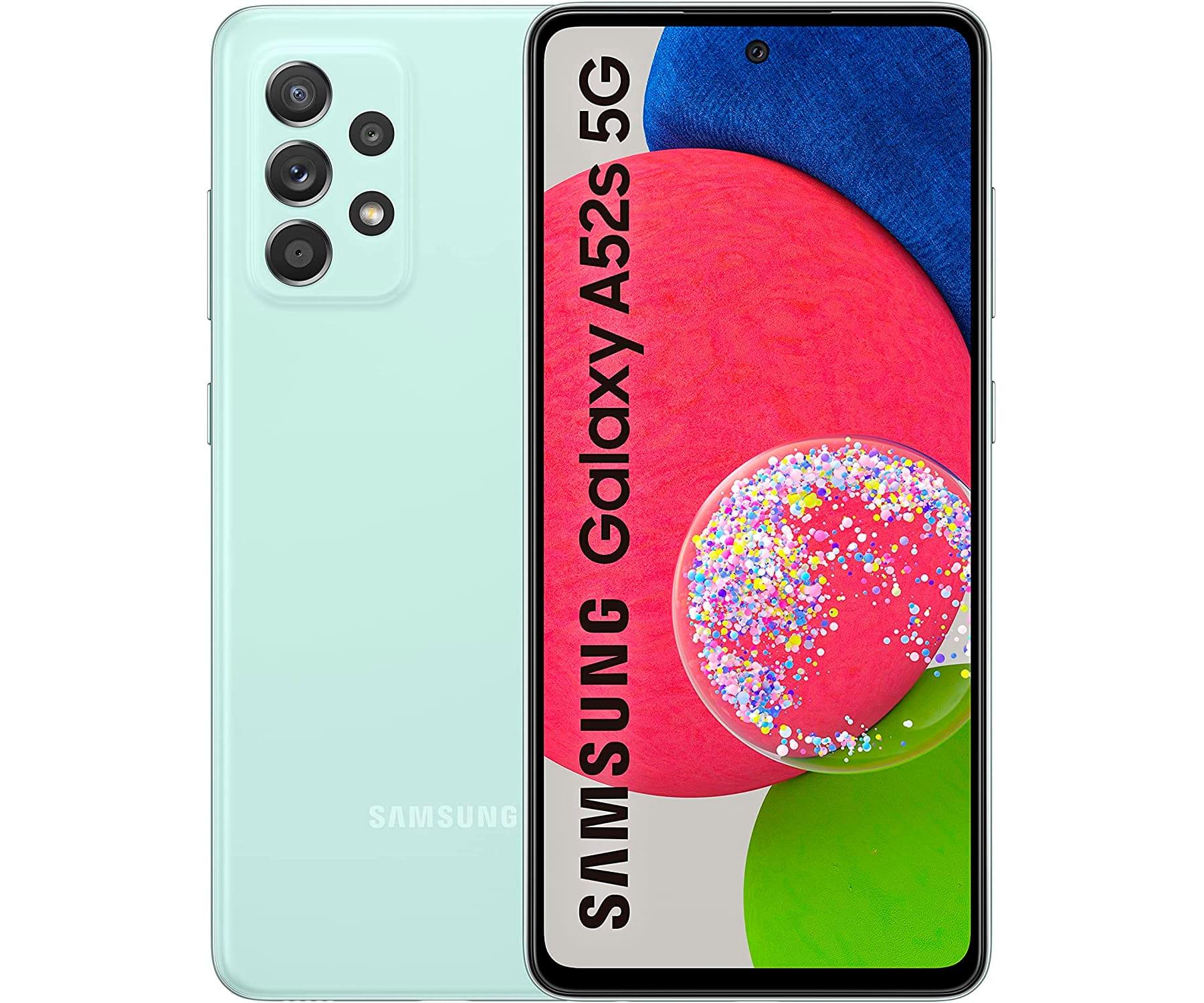 "SAMSUNG GALAXY A52S 5G VERDE (LIGHT GREEN) 6+128GB / 6.5"" AMOLED / DUAL SIM"