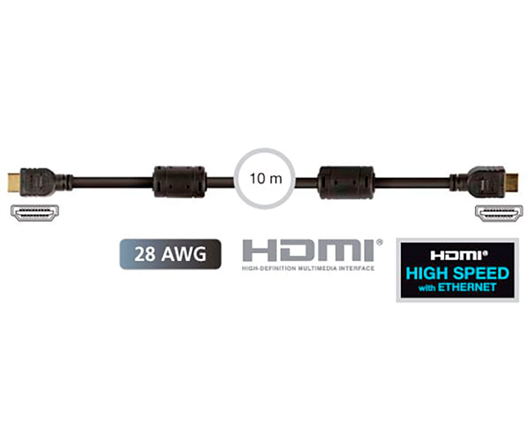FONESTAR 7908-10 CABLE HDMI MACHO A HDMI MACHO DE 10M DE LONGITUD