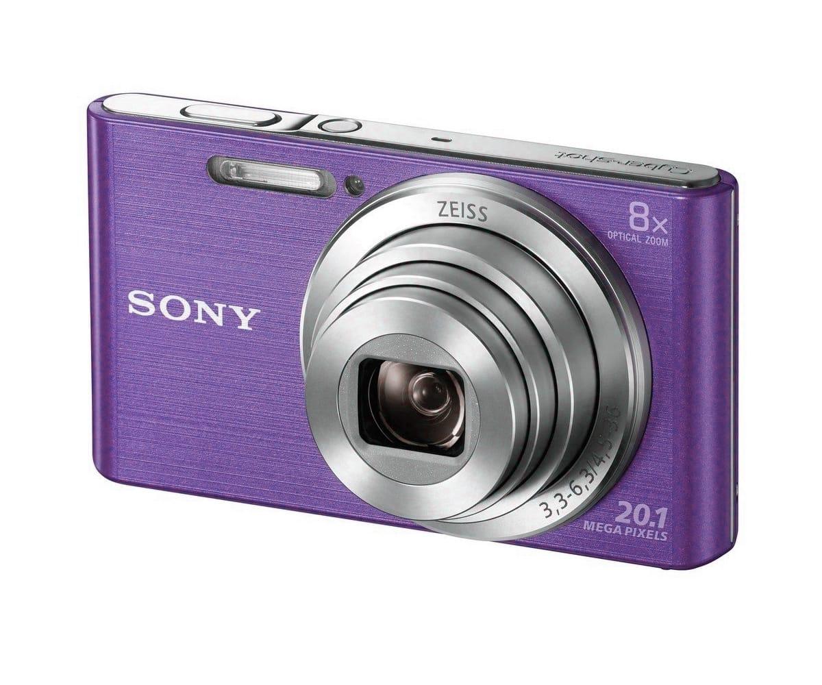 SONY DSCW830V CÁMARA DE FOTOS 20.1 MP ZOOM 8X LILA