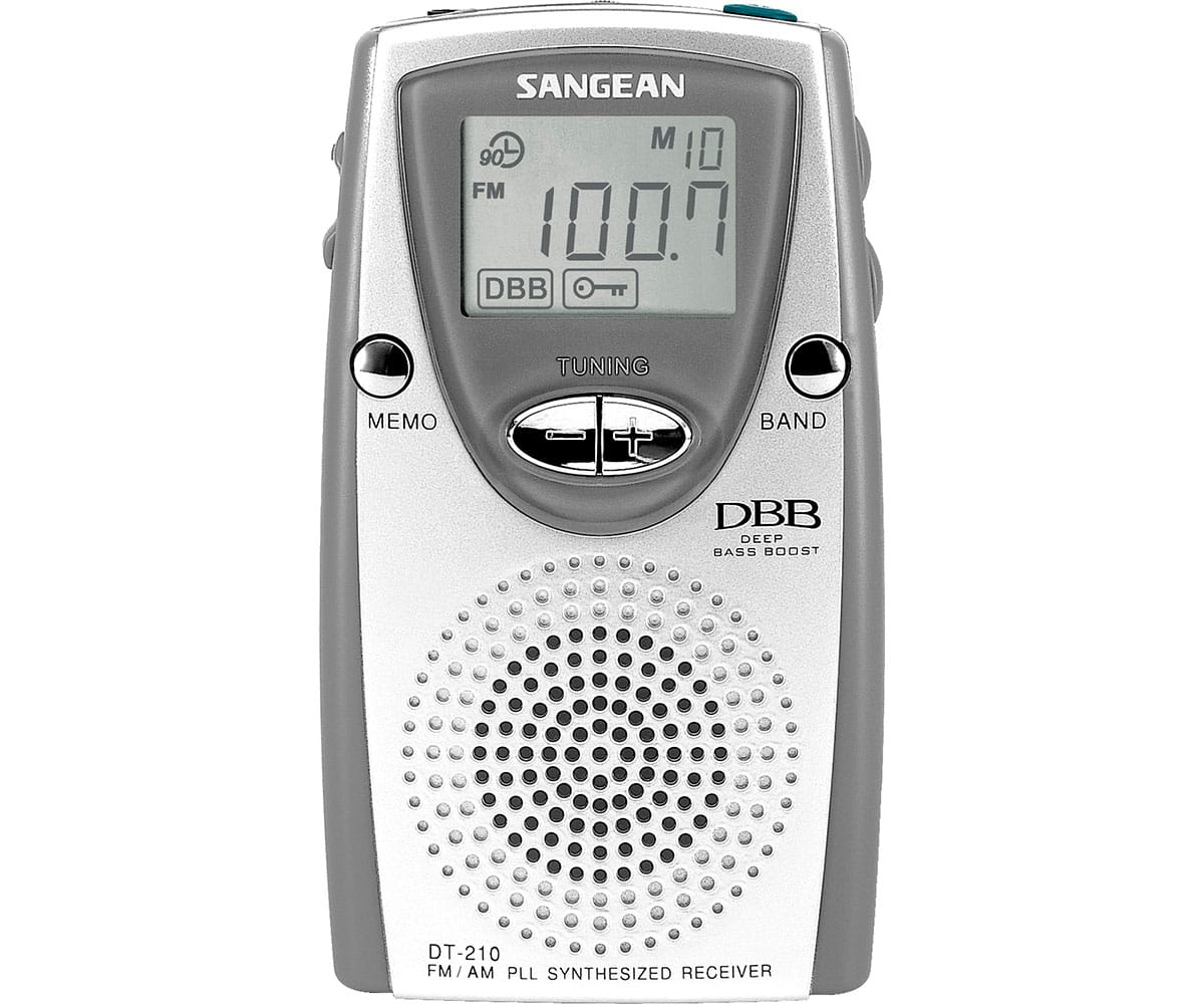SANGEAN DT-210 GRIS RADIO TRANSISTOR DE BOLSILLO PLL FM/AM DBB