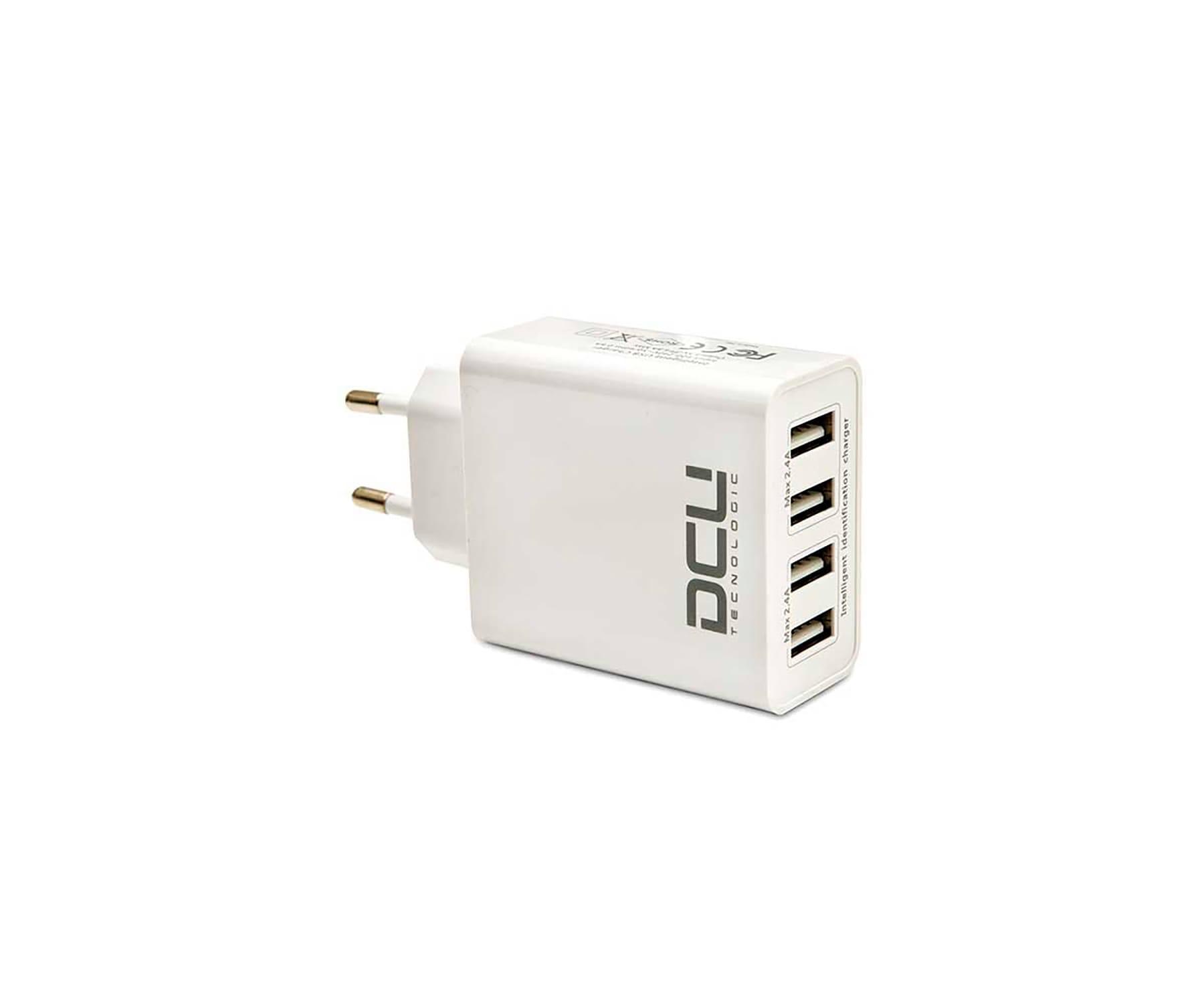 DCU CARGADOR CON 4 PUERTOS USB