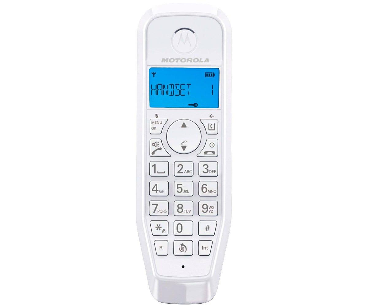 MOTOROLA S1201 AZUL TELÉFONO INALÁMBRICO CON GRAN PANTALLA RETROILUMINADA Y MANOS LIBRES