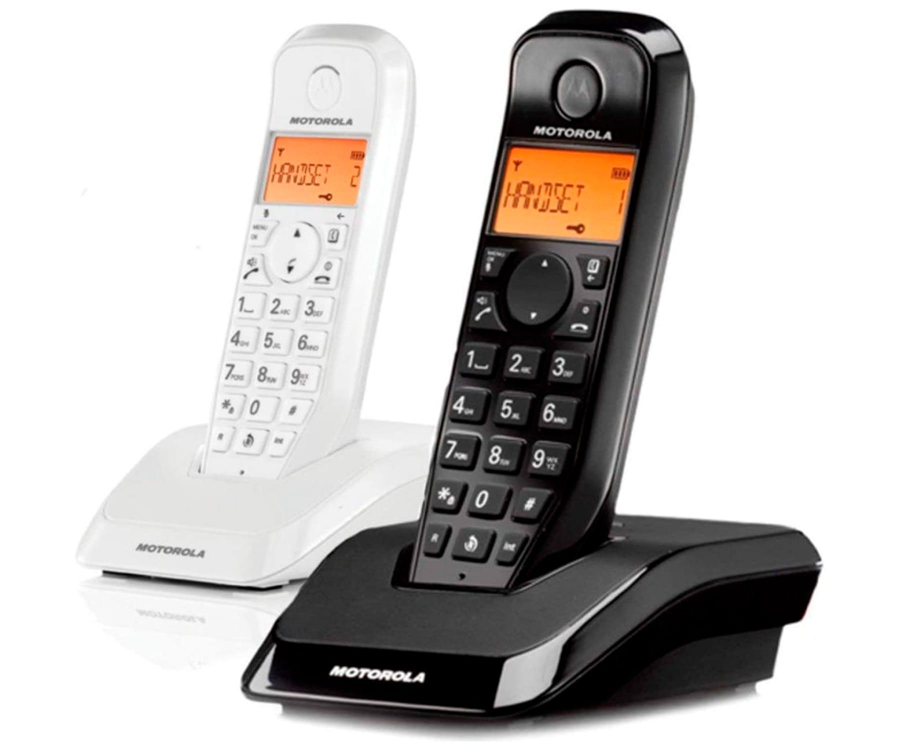 MOTOROLA S1202 BLANCO/NEGRO DUO TELÉFONO INALÁMBRICO MANOS LIBRES 50 CONTACTOS