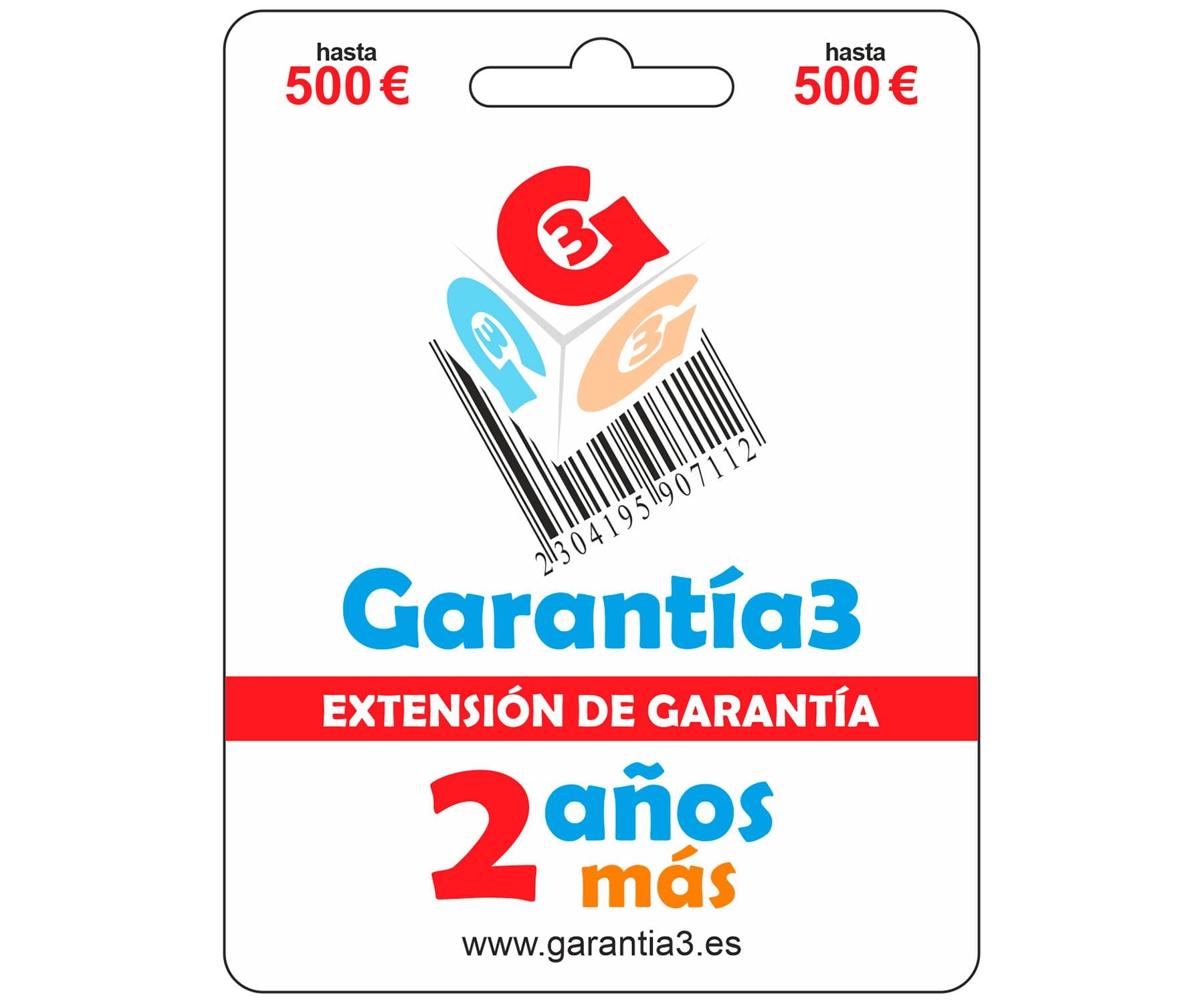 GARANTÍA 3 EXTENSIÓN DE LA GARANTÍA DE 3 AÑOS A LA GARANTÍA OFICIAL CON COBERTURA DE 500€