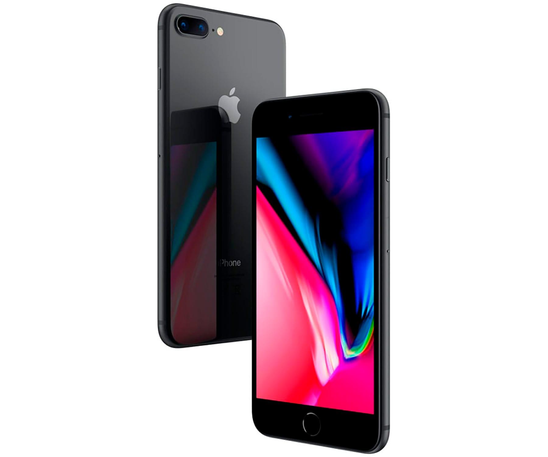 APPLE IPHONE 8 PLUS 64GB GRIS ESPACIAL REACONDICIONADO CPO MÓVIL 4G 5.5'' RETINA FHD/6CORE/64GB/3GB RAM/12MP+12MP/7MP